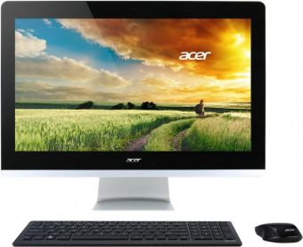 "Моноблок Acer - Aspire Z3-705, 21.5"", Intel Pentium 3805U 1900MHz, DIMM DDR3L 4GB, SATA III (6Gb/s)  1TB, Intel HD Graphics, DVD-RW, Wi-Fi, Bluetooth, Чёрный, Windows 10 Home 64, DQ.B2FER.002 - фото 1"