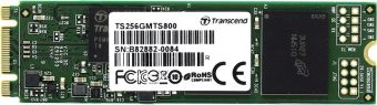 Диск SSD Transcend - MTS800, for Mobile, M.2 2280, 256GB, SATA III (6Gb/s), speed write-300MB/s read-560MB/s, MLC, TS256GMTS800