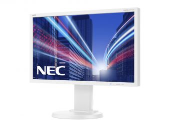 "Монитор NEC - E224WI, 22"", 16:9, LED, IPS, 6ms, 250cd/m², 1000:1, 1920x1080 (Full HD), 75Hz, VGA, 1x DVI, 1x DP, HAS, pivot, цвет Белый, E224WI - фото 1"