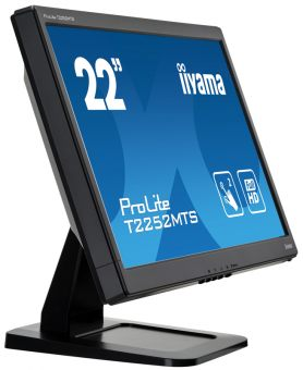 "Монитор Iiyama T2252MTS-B3 21.5"" LED TN 250кд/м² 1920x1080 (Full HD) TouchScreen Чёрный T2252MTS-B3 - фото 1"
