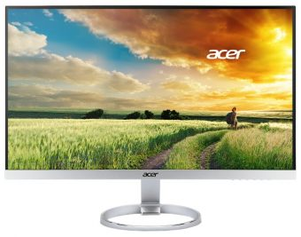 "Монитор Acer - H277HUsmidpx, 27"", 16:9, LED, IPS, 4ms, 350cd/m², 2560x1440 (WQHD), 61Hz, 1x DVI, 1x HDMI, 1x DP, speakers, цвет Серебристый, UM.HH7EE.005 - фото 1"