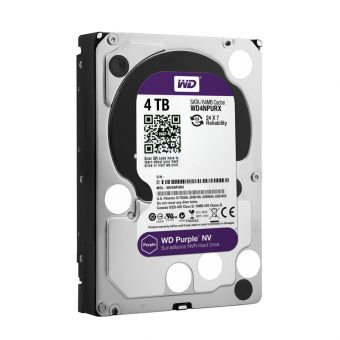 "Диск HDD Western Digital SATA III (6Gb/s) 3.5"" Purple NV IntelliPower 64MB 4TB WD4NPURX"