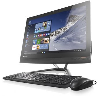 "Моноблок Lenovo - IdeaCenter AIO 300-23ISU, 23"", Intel Core i3 6100U 2300MHz, SODIMM DDR4 4GB, SATA III (6Gb/s)  500GB, Intel HD Graphics 520, DVD-RW, Wi-Fi, Bluetooth, Чёрный, FreeDOS, F0BY001PRK - фото 1"