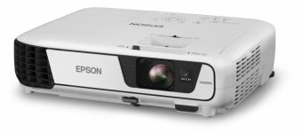 Проектор EPSON - EB-S31, 800x600 (SVGA), 4:3, LCD, 3200lm, 15000:1, диагональ до 9м, 1x HDMI, 1x VGA in, 1x CVBS in, 1x S-video in, 1x 2RCA audio in, 1x USB, speakers, Серый, V11H719040 - фото 1