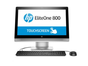 "Моноблок HP - EliteOne 800 G2, 23"", сенсорный, Intel Core i7 6700 3400MHz, SODIMM DDR4 8GB, 128GB, Intel HD Graphics 530, DVD-RW, Wi-Fi, Bluetooth, Чёрный, Windows 10 Pro 64, T6C34AW - фото 1"
