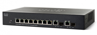 Коммутатор Cisco SF302 Управляемый Web 8-10/100Mb 2-combo-1GbE SRW208G-K9-G5