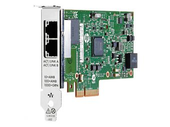 Сетевая карта HP Enterprise - 361T, 1 Гб/с, RJ-45, 2-port, PCI Express x4, 652497-B21