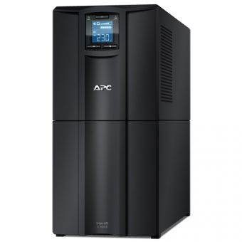 ИБП APC by Schneider Electric - Smart-UPS C, 3000VA/2100W, Line-Interactive, in (230V 1xIEC-320 C20), out (8xIEC-C320 C13 1xIEC-C320 C19), Hot Swap User Replaceable Batteries , LCD , Tower, цвет Чёрный, SMC3000I - фото 1