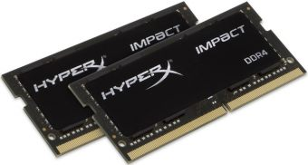 item-slider-more-photo-Фото Комплект памяти Kingston HyperX Impact 16GB SODIMM DDR4 2400MHz (2х8GB), HX424S14IBK2/16 - фото 1