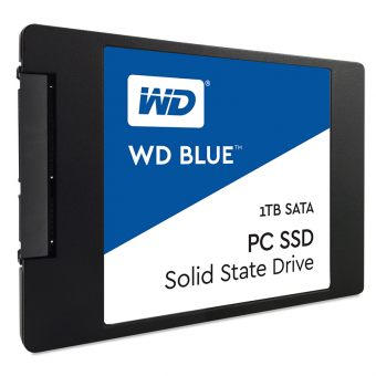 "Диск SSD Western Digital - Blue, for Desktop, 2.5"", 1TB, SATA III (6Gb/s), speed write-525MB/s read-545MB/s, TLC, WDS100T1B0A - фото 1"