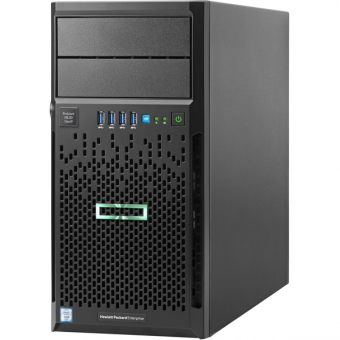 "Сервер HP Enterprise - ProLiant ML30 Gen9, 1xIntel Xeon E3 1220v5 3000MHz, DIMM DDR4 ECC 1x8GB, 4xLFF, SATA 3.5"" 1x1TB, Smart Array B140i, 2x1GbE, DVD-RW, 350W, Tower, 4U, Q0C52A"