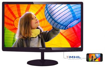 "Монитор Philips - 277E6LDAD, 27"", 16:9, TN, 1ms, 300cd/m², 1000:1, 1920x1080 (Full HD), 75Hz, VGA, 1x DVI, 1x HDMI, speakers, цвет Чёрный, 277E6LDAD/01"
