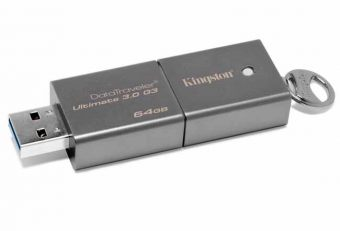 USB накопитель Kingston DataTraveler Ultimate 3.0 Generation 3 USB 3.0 64GB Серебристый DTU30G3/64GB