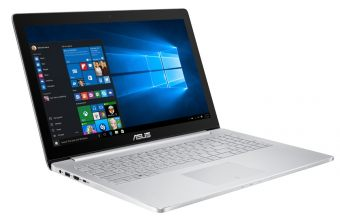 "Ультрабук Asus ZenBook Pro UX501VW-FI109R - 15.6"", 3840x2160 (Ultra HD), Intel Core i7 6700HQ 2600MHz, On board DDR4 16GB, SSD 512GB, nVidia GeForce GTX 960M GDDR5 2GB, Bluetooth, Wi-Fi, noDVD, Серебристый, Windows 10 Pro 64, 90NB0AU2-M01540 - фото 1"