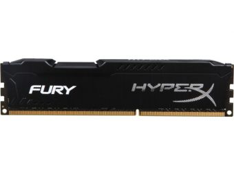 Модуль памяти Kingston HyperX FURY Black 8ГБ DIMM DDR3 non ECC 1866МГц CL10 1.5В HX318C10FB/8