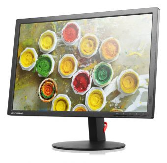 "Монитор Lenovo - ThinkVision T2254p, 22"", 16:10, LED, TN, 5ms, 250cd/m², 1000:1, 1680x1050 (WSXGA+), 75Hz, VGA, 1x HDMI, 1x DP, HAS, pivot, цвет Чёрный, 60CCMAR2EU - фото 1"