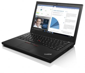"Ультрабук Lenovo ThinkPad X260 - 12.5"", 1366x768 (WXGA), Intel Core i5 6200U 2300MHz, SODIMM DDR4 4GB, Hybrid 500GB + 8GB, Intel HD Graphics 520, Bluetooth, Wi-Fi, noDVD, 6cell, Чёрный, FreeDOS, 20F6S02A00 - фото 1"