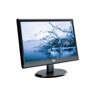 "Монитор AOC - E950SWDAK, 18.5"", 16:9, LED, TN, 5ms, 250cd/m², 1000:1, 1366x768 (WXGA), 76Hz, VGA, 1x DVI, speakers, цвет Чёрный, E950SWDAK - фото 1"