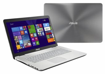 "Ноутбук Asus N751JX-T7215T  - 17.3"", 1920x1080 (Full HD), Intel Core i7 4750HQ 2000MHz, SODIMM DDR3L 8GB, HDD 1TB, nVidia GeForce GTX 950M 4GB, Bluetooth, Wi-Fi, DVD-RW, 6cell, Стальной, Windows 10 Home 64, 90NB0842-M02600 - фото 1"