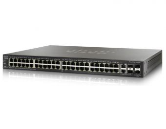 Коммутатор Cisco SF500 Управляемый Web 48-10/100Mb 2-SFP 2-combo-1GbE SF500-48-K9-G5