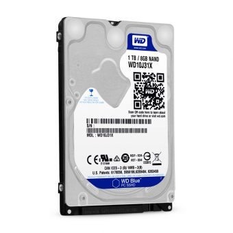 "Диск HDD Western Digital SATA III (6Gb/s) 2.5"" Blue SSHD  64MB 1TB + 8GB WD10J31X"