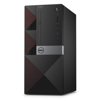Настольный компьютер Dell - Vostro 3650, Intel Pentium G4400 4400MHz, DIMM DDR3L 4GB, SATA III (6Gb/s)  500GB, Intel HD Graphics 510, noDVD, Чёрный, Windows 7 Professional 64 + Windows 10 Pro 64, 3650-0250 - фото 1