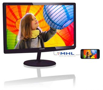 "Монитор Philips - 227E6LDSD, 21.5"", 16:9, LED, TN, 5ms, 250cd/m², 1000:1, 1920x1080 (Full HD), 75Hz, VGA, 1x DVI, 1x HDMI, цвет Чёрный, 227E6LDSD/01"