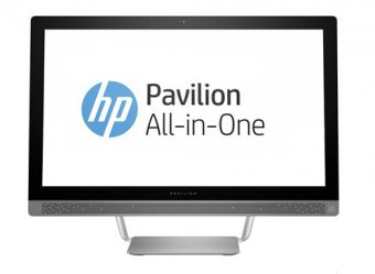 "Моноблок HP - Pavilion 24-b170ur, 24"", Intel Core i7 6700T 2800MHz, SODIMM DDR4 8GB, 1TB + 128GB, nVidia GeForce GT 930A 2GB, DVD-RW, Серебристый, Windows 10 Home 64, Z0K51EA - фото 1"
