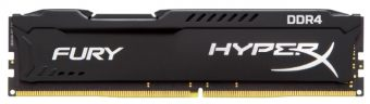 Модуль памяти Kingston HyperX FURY Black 4ГБ DIMM DDR4 non ECC 2133МГц CL14 1.2В HX421C14FB/4