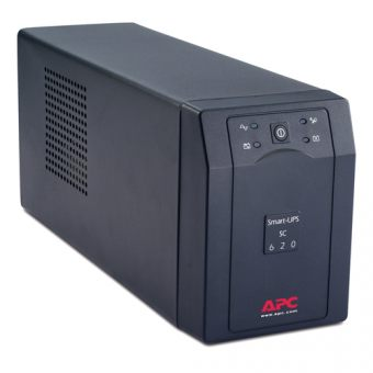ИБП APC by Schneider Electric - Smart-UPS SC, 620VA/390W, Line-Interactive, in (230V 1xIEC-320 C14), out (4xIEC-C320 C13), Hot Swap User Replaceable Batteries , Tower, цвет Чёрный, SC620I - фото 1