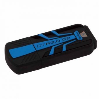 USB накопитель Kingston DataTraveler R3.0 G2 USB 3.0 64GB Чёрный DTR30G2/64GB - фото 1