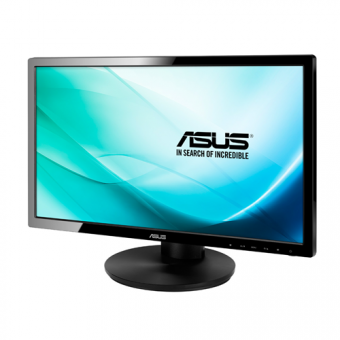 "Монитор Asus - VE228TL, 21.5"", 16:9, LED, TN, 5ms, 250cd/m², 1920x1080 (Full HD), 76Hz, VGA, 1x DVI, HAS, pivot, speakers, цвет Чёрный, VE228TL - фото 1"