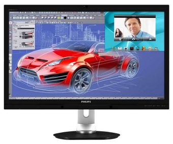 "Монитор Philips - 272P4QPJKEB, 27"", 16:9, LED, IPS, 6ms, 300cd/m², 1000:1, 2560x1440 (WQHD), USB-hub, HAS, Pivot, Speakers, Чёрный, 272P4QPJKEB/00 - фото 1"