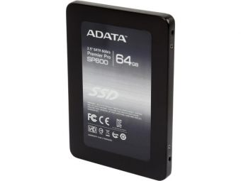 "Диск SSD ADATA - SP600, for Mobile, 2.5"", 64GB, SATA III (6Gb/s), speed write-70MB/s read-430MB/s, MLC, JMicron JMF661/JMF667H, ASP600S3-64GM-C"