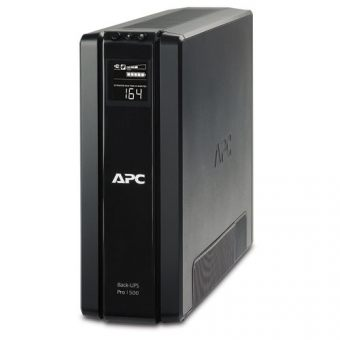 ИБП APC by Schneider Electric - Back-UPS Pro, 1500VA/865W, Line-Interactive, in (230V 1xSchuko), out (6xSchuko), Hot Swap User Replaceable Batteries , LCD , Tower, цвет Чёрный, BR1500G-RS - фото 1