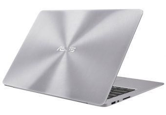 "Ультрабук Asus Zenbook UX330UA-FB012T - 13.3"", 1920x1080 (Full HD), Intel Core i5 6200U 2300MHz 8GB, SSD 256GB, Intel HD Graphics 520, Bluetooth, Wi-Fi, noDVD, Серебристый, Windows 10 Home 64, 90NB0CW1-M02820 - фото 1"