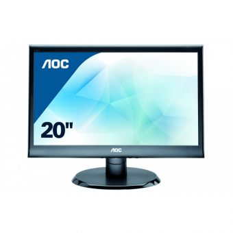 "Монитор AOC - E2050SW, 19.5"", 16:9, LED, TN, 5ms, 250cd/m², 1000:1, 1600x900 (HD+), 76Hz, VGA, цвет Чёрный, E2050SW/01 - фото 1"