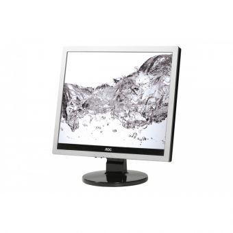 "Монитор AOC - E719SDA, 17"", 5:4, LED, TN, 5ms, 250cd/m², 1000:1, 1280x1024 (SXGA), 76Hz, VGA, 1x DVI, speakers, цвет Серебристый, E719SDA - фото 1"