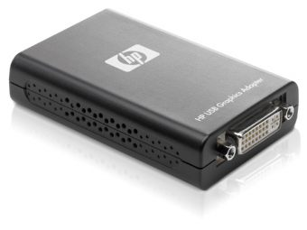 Переходник HP, USB Type A (Male) -> DVI-I (Female), NL571AA