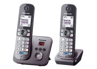 DECT-телефон Panasonic - KX-TG6822RU, standby time 170h, talk time 15h, 2-handset, phone book 120 numbers, answerphone, search handset, additional handset, key illumination, Серебристый, KX-TG6822RUM - фото 1