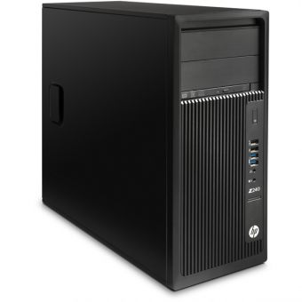 Рабочая станция HP - Z240, Intel Core i7 6700K 4000MHz, DIMM DDR4 16GB, 512GB, nVidia Quadro K1200 GDDR5 4GB, DVD-RW, Card-reader, Чёрный, Windows 10 Pro 64, Y3Y11EA - фото 1