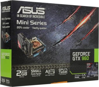 Видеокарта Asus nVidia GeForce GTX 960 GDDR5 2GB GTX960-M-2GD5 - фото 1