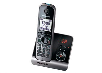 DECT-телефон Panasonic - KX-TG6721RU, standby time 170h, talk time 15h, 1-handset, phone book 100 numbers, answerphone, search handset, key illumination, Серебристый, KX-TG6721RUS - фото 1
