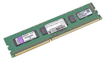 Модуль памяти Kingston ValueRAM 2ГБ DIMM DDR3 ECC 1333МГц S8 (1Rx8) CL9 1.5В KVR13E9S8/2HC