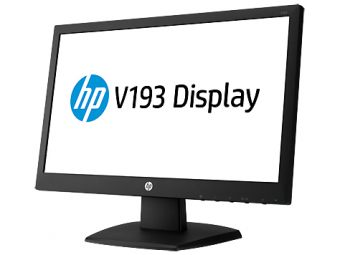"Монитор HP - V193, 18.5"", 16:9, LED, TN, 5ms, 200cd/m², 600:1, 1366x768 (WXGA), 60Hz, VGA, цвет Чёрный, G9W86AA - фото 1"
