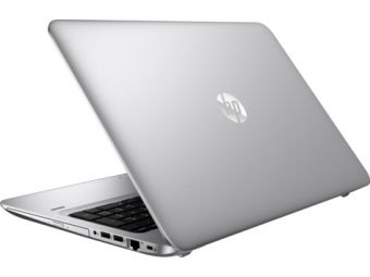"Ноутбук HP ProBook 455 G4 - 15.6"", 1920x1080 (Full HD), AMD A9 9410 1800MHz, SODIMM DDR4 4GB, HDD 500GB, AMD Radeon R5, Bluetooth, Wi-Fi, DVD-RW, 3cell, Серебристый, Windows 10 Home 64, Y8B08EA - фото 1"