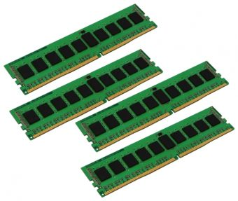 Комплект памяти Kingston ValueRAM 32ГБ DIMM DDR4 REG 2133МГц S4 (1Rx4) CL15 1.2В (4шт.) KVR21R15S4K4/32
