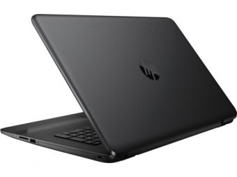 "Ноутбук HP 17-y018ur - 17.3"", 1600x900 (HD+), AMD E2 7110 1800MHz, SODIMM DDR3L 4GB, HDD 1TB, AMD Radeon R2, Bluetooth, Wi-Fi, DVD-RW, 4cell, Чёрный, FreeDOS, X5X12EA - фото 1"