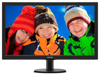 "Монитор Philips - 273V5QHAB, 27"", 16:9, LED, AMVA, 4ms, 300cd/m², 3000:1, 1920x1080 (Full HD), 75Hz, VGA, 1x DVI, 1x HDMI, speakers, цвет Чёрный, 273V5QHAB/01"