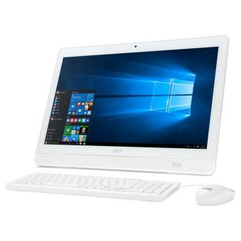 "Моноблок Acer - Z1-612, 19.5"", Intel Celeron J3060 1600MHz, DIMM DDR3 4GB, 500GB, Intel HD Graphics 400, DVD-RW, Wi-Fi, Bluetooth, Белый, Windows 10 Pro 64, DQ.B4GER.003 - фото 1"